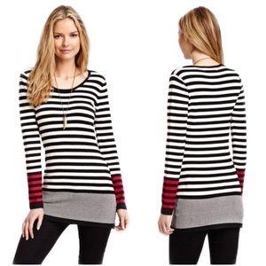 3 for 40 Patrizia Luca Striped Sweater Tunic Dress
